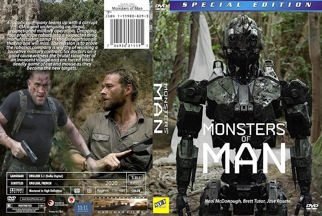 dvd cover Monsters Of Man 2020 Dvd Cover
