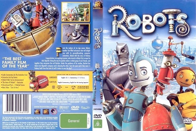 dvd cover Robots 2005 Dvd Cover