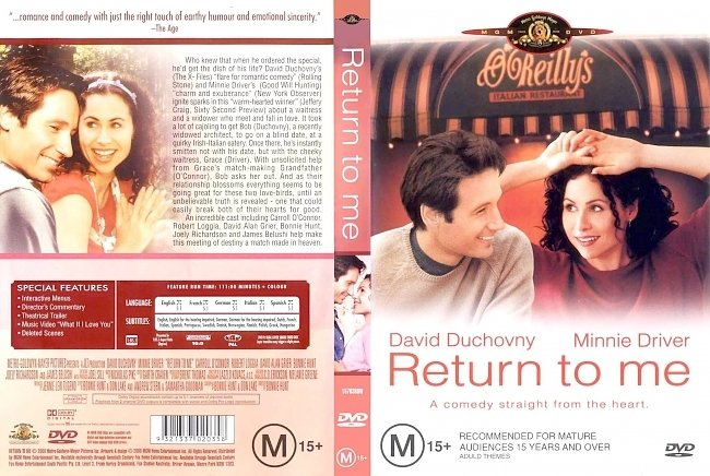 dvd cover Return To Me 2000 Dvd Cover