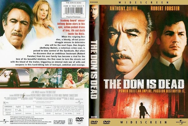 dvd cover The Don Is Dead 1973 Dvd Cover