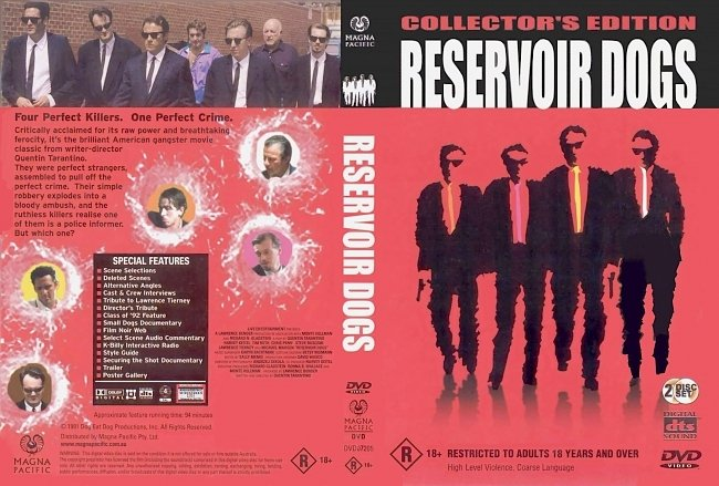 dvd cover Reservoir Dogs - Collectors Edition 1991 Dvd Cover