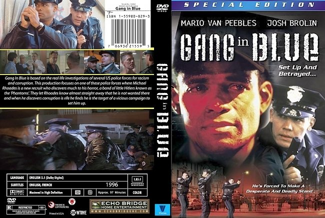 dvd cover Gang In Blue 1996 Dvd Cover