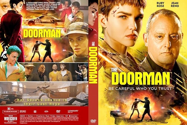 dvd cover The Doorman 2020 Dvd Cover