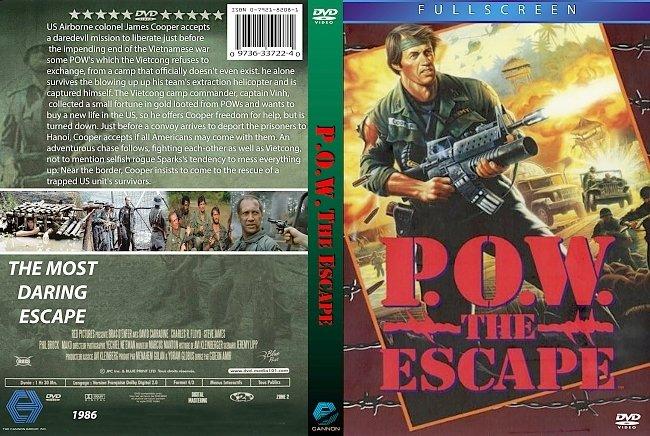 dvd cover P.O.W. The Escape 1986 Dvd Cover