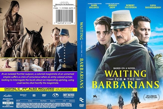 dvd cover Waiting For The Barbarians 2019 Dvd Cover