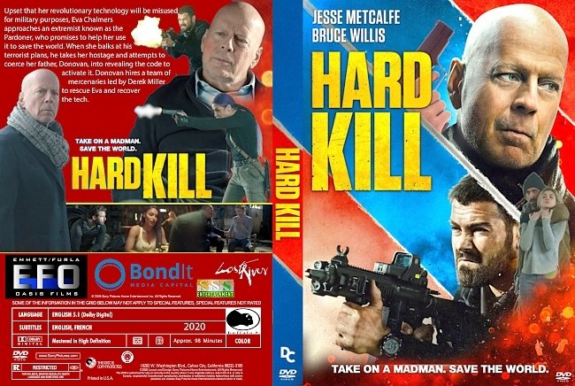 dvd cover Hard Kill 2020 Dvd Cover