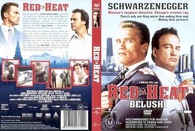 dvd cover Red Heat 1988 Dvd Cover