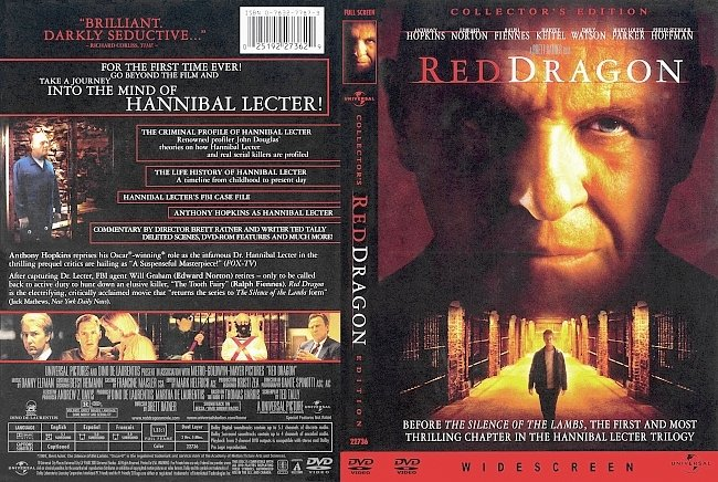 dvd cover Red Dragon - Collectors Edition 2002 Dvd Cover