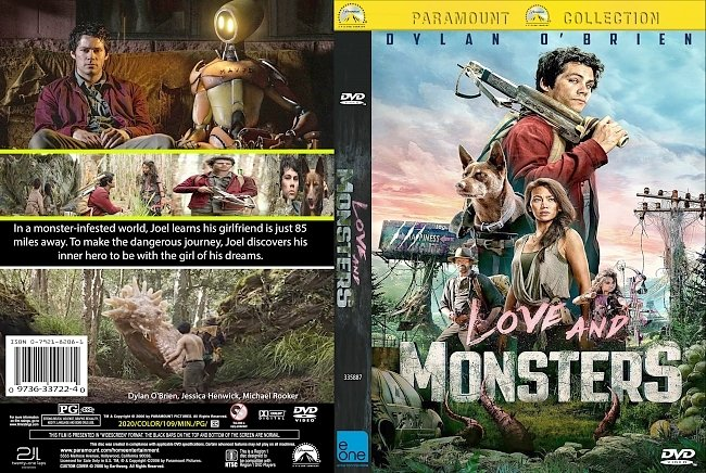 dvd cover Love And Monsters 2020 Dvd Cover
