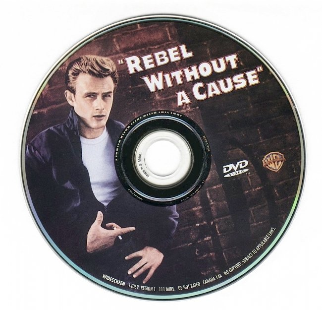 dvd cover Rebel Without A Cause 1955 Disc Label Dvd Cover