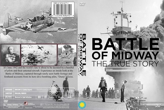 dvd cover Battle Of Midway The True Story 2019 Dvd Cover