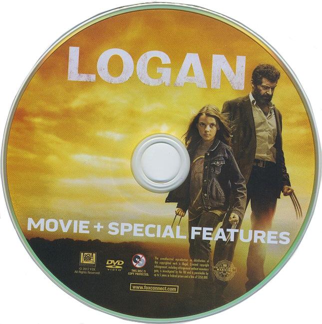 dvd cover Logan 2017 R1 Disc Dvd Cover