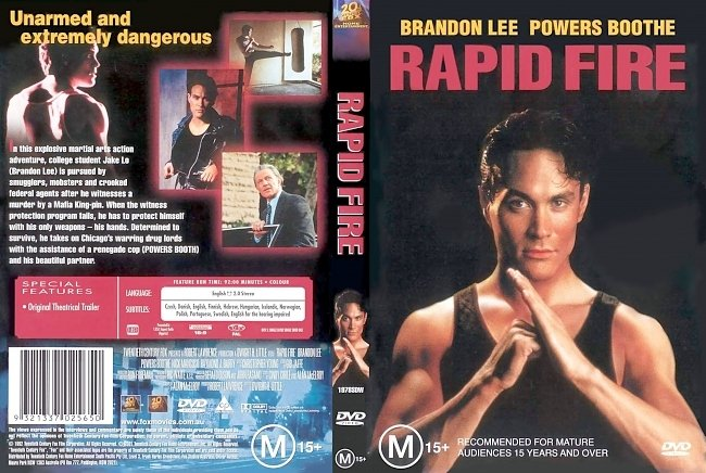 dvd cover Rapid Fire 1992 Dvd Cover