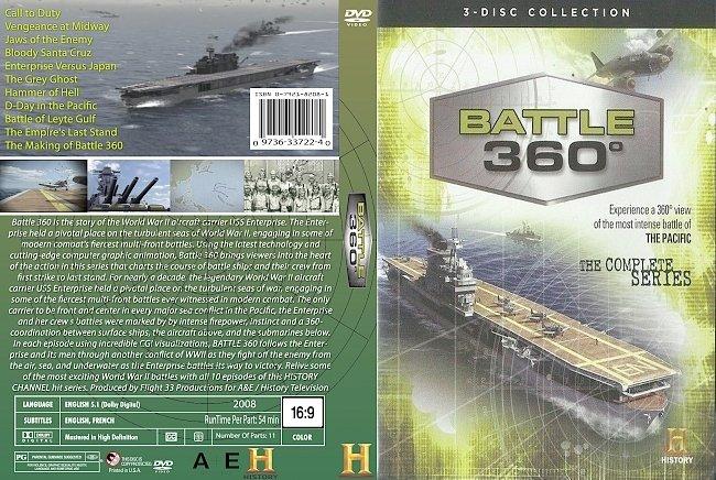 dvd cover Battle 360_ USS Enterprise 2008 Dvd Cover