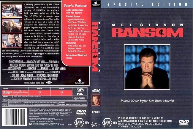dvd cover Ransom - Special Edition 1996 Dvd Cover