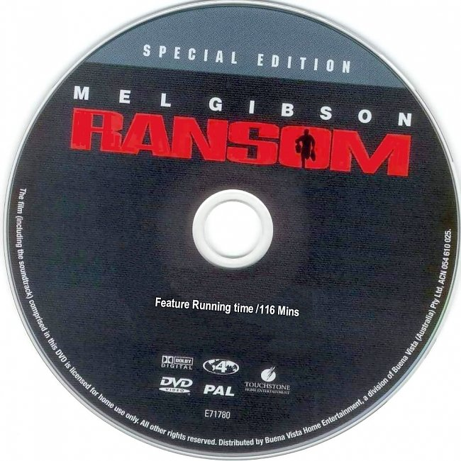 dvd cover Ransom - Special Edition 1996 Disc Label Dvd Cover