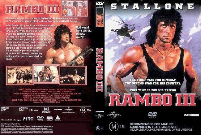dvd cover Rambo III 1988 Dvd Cover