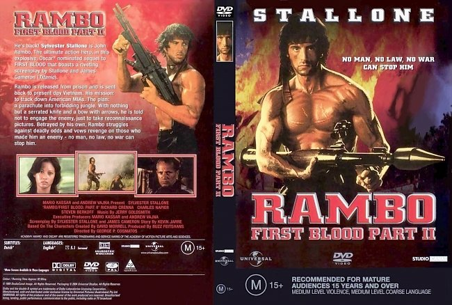 dvd cover Rambo First Blood Part II 1985 Dvd Cover