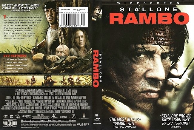 dvd cover Rambo 4 2008 Dvd Cover
