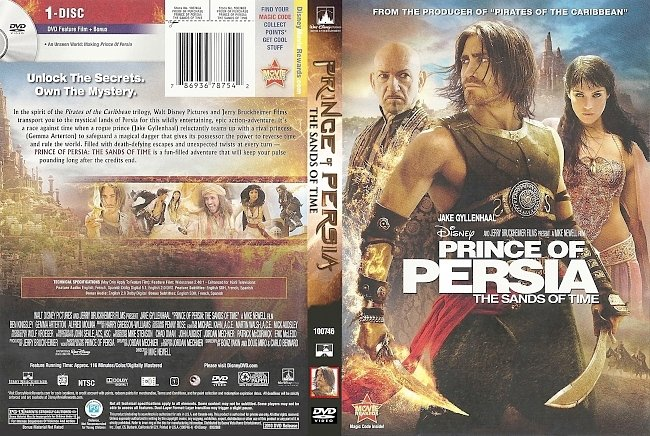 dvd cover Prince Of Persia The Sands Of Time 2010 Dvd Cover