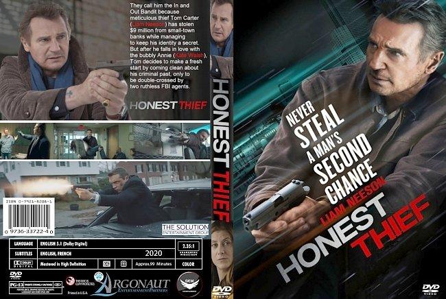 dvd cover Honest Thief 2020 Dvd Cover