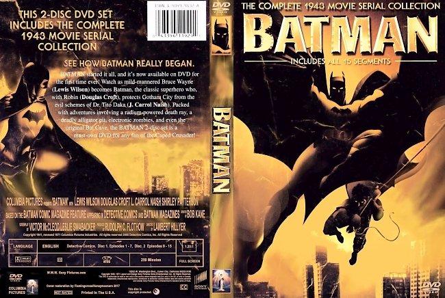 dvd cover Batman - 1943 Seriel Collection 2017 Dvd Cover