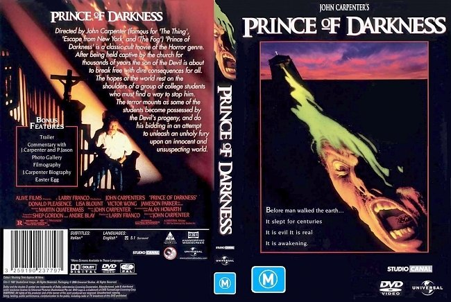 dvd cover Prince Of Darkness 1987 Dvd Cover