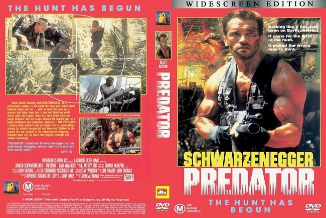 dvd cover Predator 1987 Dvd Cover