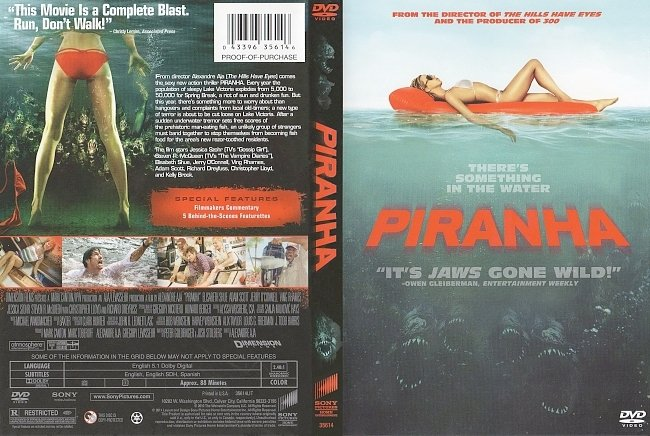 dvd cover Piranha 2010 Dvd Cover