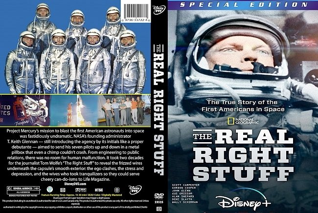 dvd cover The Real Right Stuff 2020 Dvd Cover