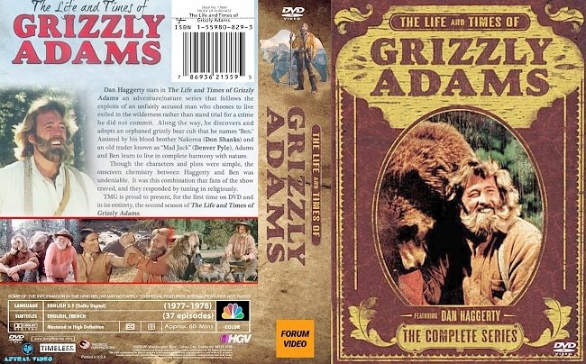 dvd cover The Life And Times Of Grizzly Adams 1978 Dvd Cover