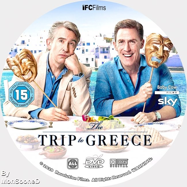 dvd cover The Trip To Greece 2020 Dvd Disc Dvd Cover
