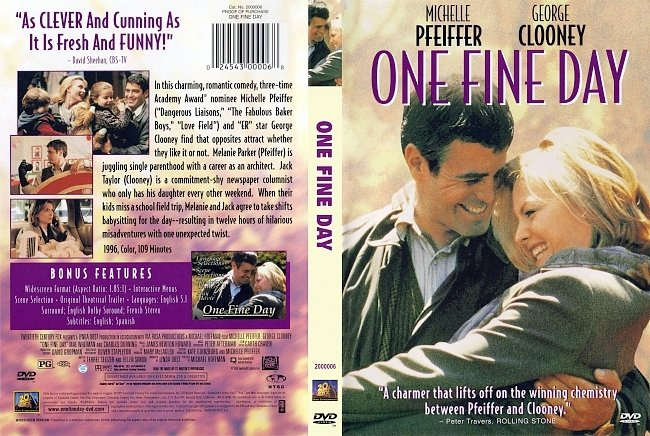 dvd cover One Fine Day 1996 Dvd Cover