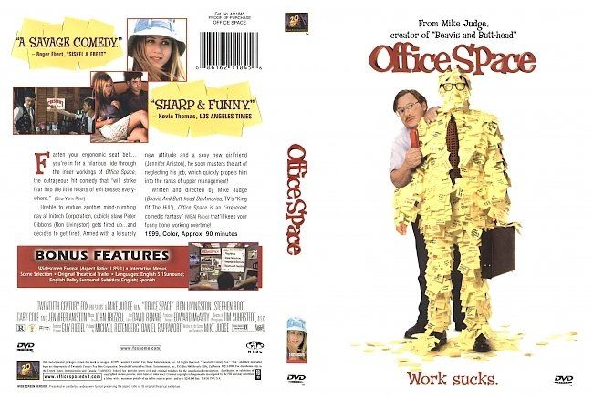 dvd cover Office Space 1999 Dvd Cover