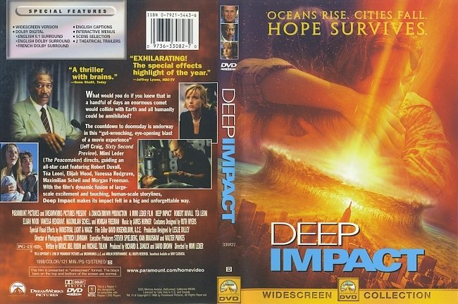 dvd cover Deep Impact 1998 Dvd Cover