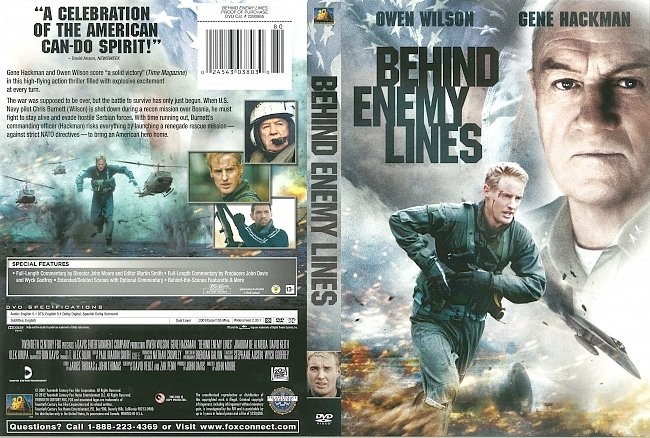 dvd cover Behind Enemy Lines 2001 Dvd Cover