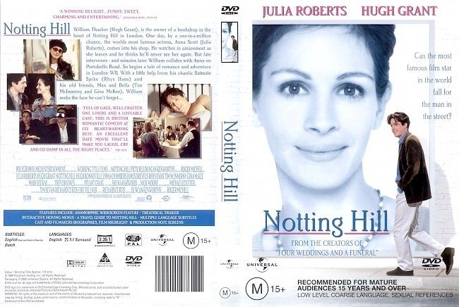 dvd cover Notting Hill 1999 Dvd Cover