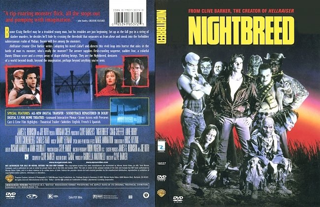 dvd cover Nightbreed 1990 Dvd Cover