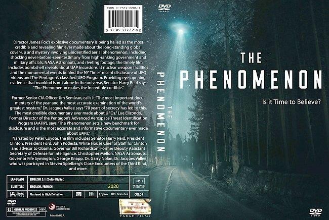 dvd cover The Phenomenon 2020 Dvd Cover