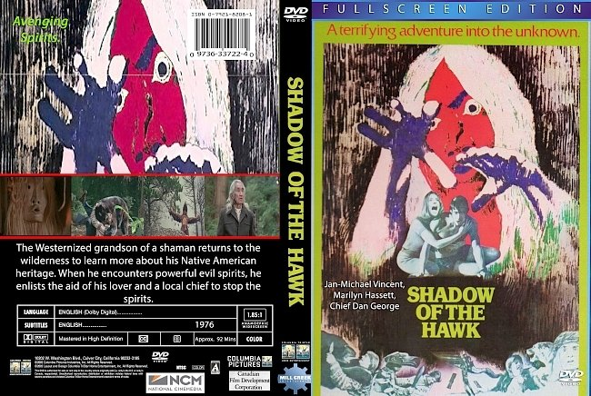 dvd cover Shadow Of The Hawk 1976 Dvd Cover