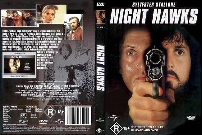 dvd cover Night Hawks 1981 Dvd Cover