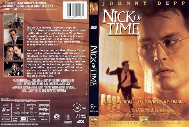 dvd cover Nick Of Time 1995 Dvd Cover