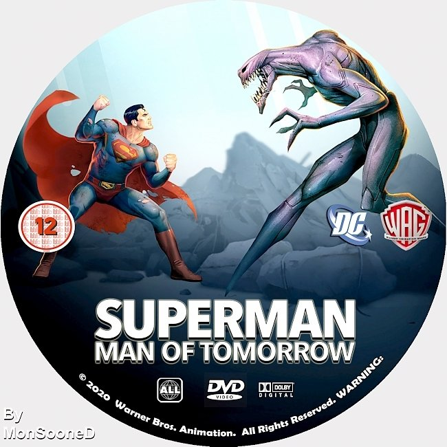 dvd cover Superman Man Of Tomorrow 2020 Dvd Disc Dvd Cover