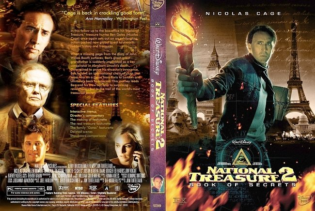 dvd cover National Treasure 2 Book Of Secrets 2007 Dvd Cover