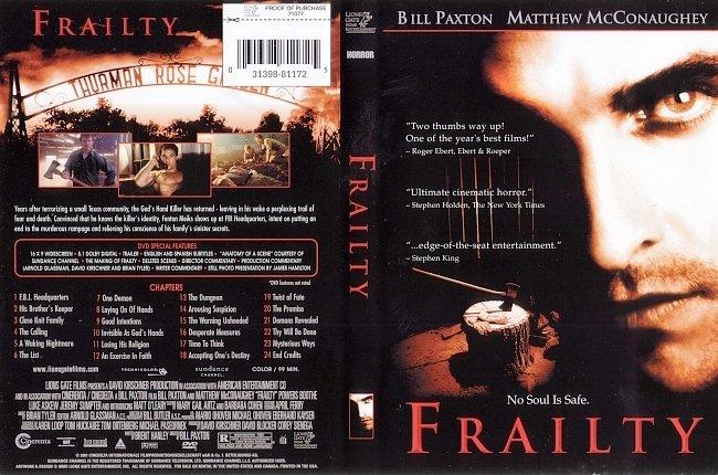 dvd cover Frailty 2001 Dvd Cover