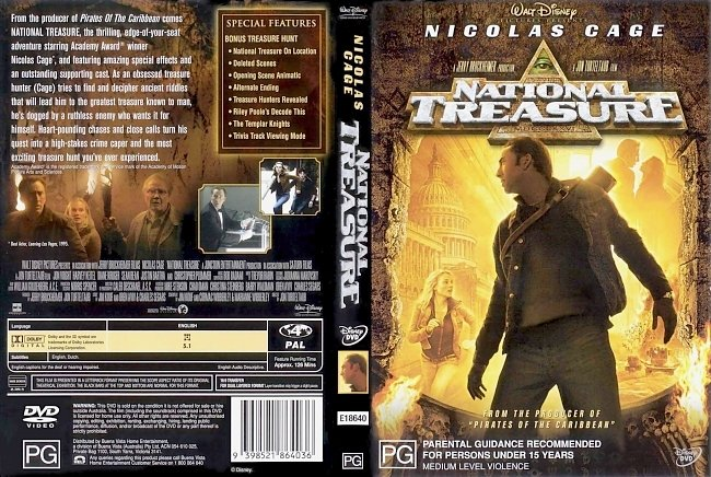 dvd cover National Treasure 2004 Dvd Cover