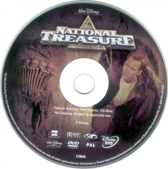 dvd cover National Treasure 2004 Disc Label Dvd Cover