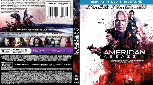 dvd cover American Assassin 2017 Dvd Cover