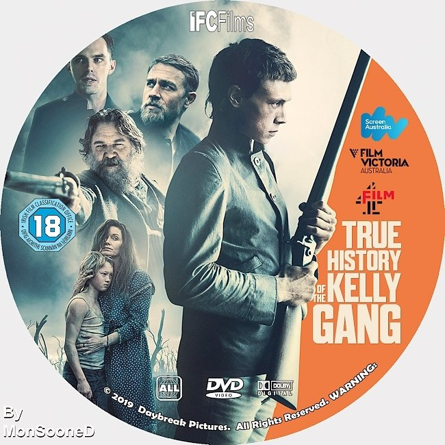 dvd cover True History Of The Kelly Gang 2019 Dvd Disc Dvd Cover