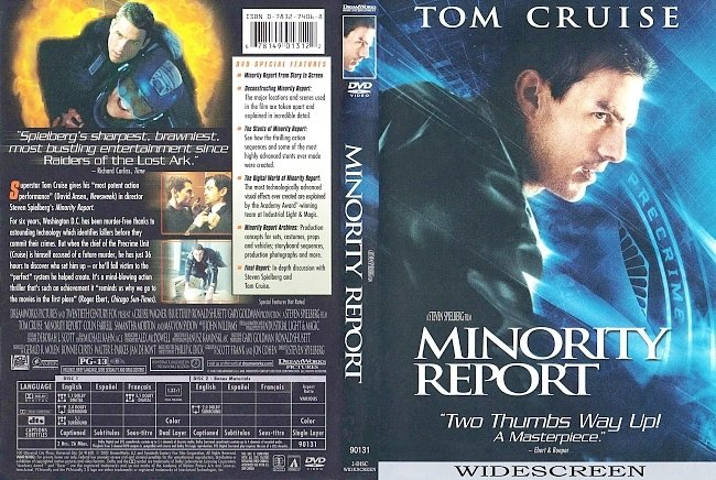 dvd cover Minority Report 2002 Dvd Cover